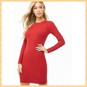 New Forever21 Ribbed Bodycon Sweater Dress